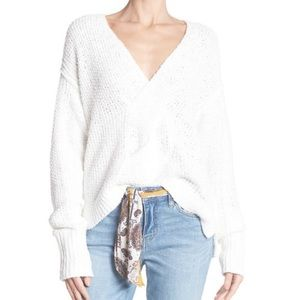 Free People white Coco sweater